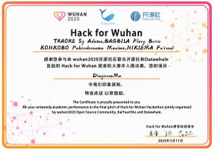 Finaliste de Hack for Wuhan