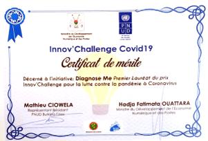 1er Prix de Innov'Challenge COVID-19